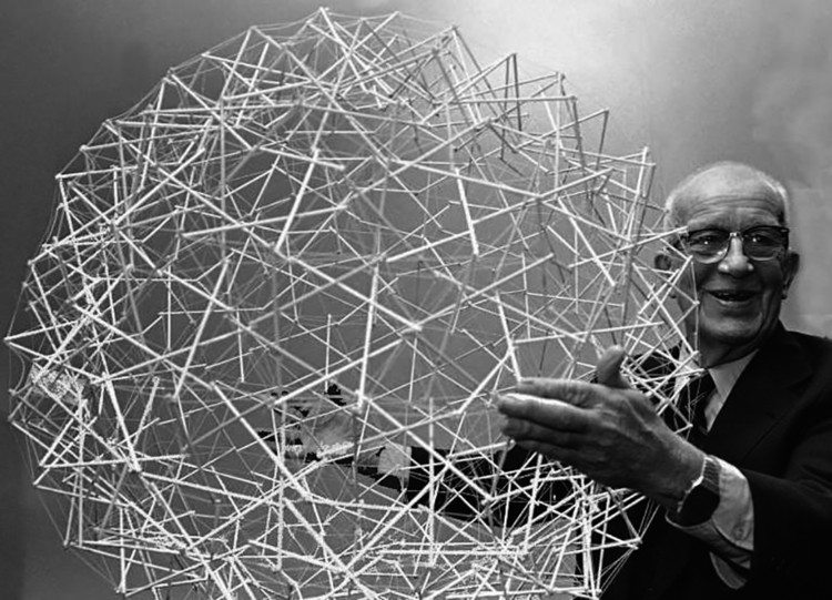Tensegrity Structures: What They Are and What They Can Be , Buckminster Fuller <a href='https://www.flickr.com/photos/poetarchitecture/26806590126/in/photolist-GQNMjo-hESW2z-GMT4BP-ejcfv3-criycW-r4RXrm-qixJV2-3ZnJR-3ZnKg-5mMEfE-5mHpSD-5mMEDd-VR9y-VR7Y-VR9e-VR7D-VR8M-8y9tDo-8y6sNX-qnhPRv-sSPR3B-ta1L5A-sSFpTo-t7XFvh-t7Xf6u-t7WDZd-t7W8aY-sSFCyf-t7WNX3-sdgce7-sSGbAS-sSEAJd-sSH5eG-t7WeNY-sdsw7p-sdrtJa-t7WvQs-ta2Hj3-taiBsF-tagNuP-sSPTcM-t7WCsq-ta1wys-sSNNhP-ta2Tpo-sSFMmJ-sSPk8M-sdrEH4-ta2Jc5-sSHcrN'>©POET ARCHITECTURE via Flickr </a> Licence Public Domain Mark 1.0