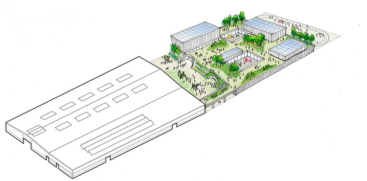 Studio Gang Reveals Concept Designs for California College of the Arts Campus, © Studio Gang