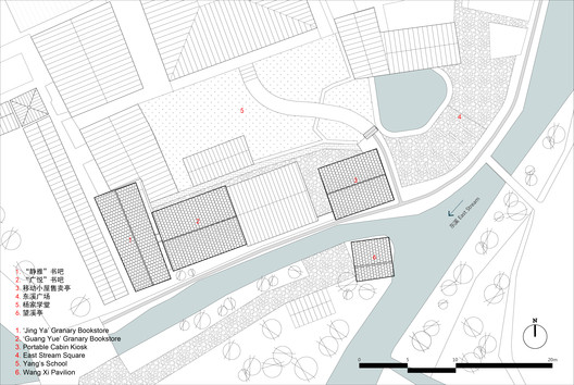 Site Plan of Yang's School Area