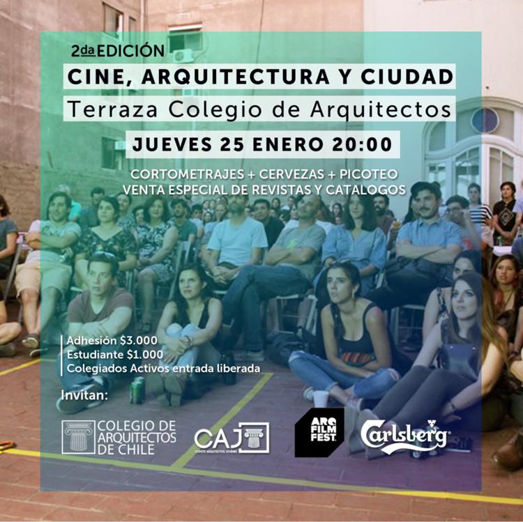 Segunda noche de cine, arquitectura y ciudad en el Colegio de Arquitectos de Chile, Colegio de Arquitectos de Chile