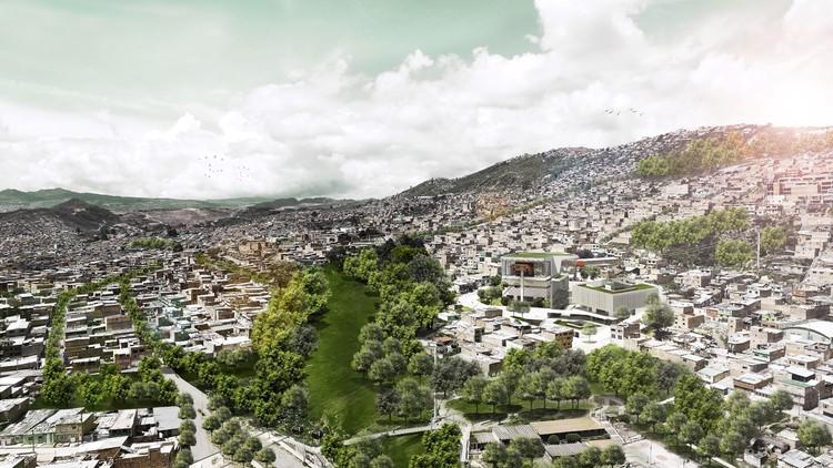 David Macias, tercer lugar en concurso del futuro SuperCADE Manitas en Ciudad Bolívar, Colombia, Cortesía de David Macias Arquitectura y Urbanismo