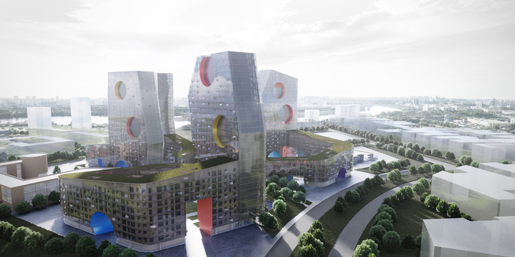 Steven Holl Architects Create New Residential Typology on Moscow Paratrooper Site, Courtesy of Steven Holl Architects/Art-group Kamen