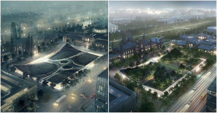 "Fine Arts Commission on BIG's Smithsonian Plans: ""It's Not Good Design"", Courtesy of BIG. Rendering by Brick Visual"