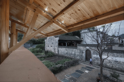 Ancestral hall view from the second floor. Image © Yilong Zhao