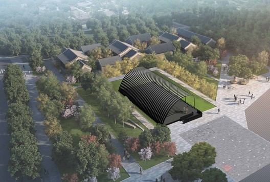 Render of the Serpentine Pavilion Beijing 2018, Design by Jiakun Architects. Image © JIAKUN Architects
