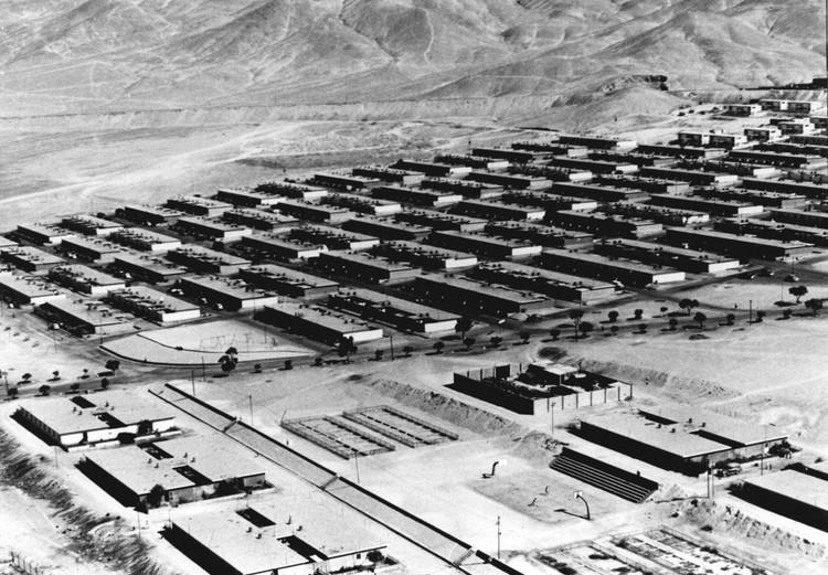 Presentan la historia del campamento de Chuquicamata, la mina a cielo abierto más grande del mundo, Vista aérea de Staff y Normac. Image © Archivo CODELCO