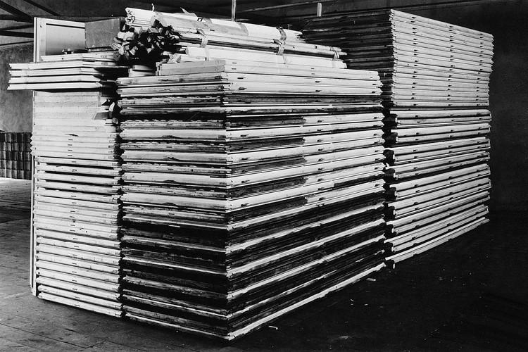 OPEN CALL: Bauhaus Lab 2018, Konrad Wachsmann und Walter Gropius, General-Panel-System, 1942/43, Foto: George H. Davis © Konrad Wachsmann, courtesy Ray Wachsmann