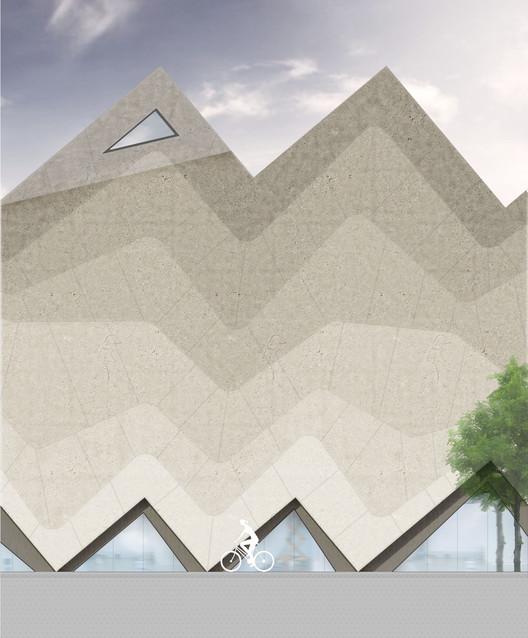 Elevation. Image Courtesy of J. Mayer H. Architects