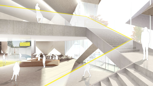 Ground Floor view. Image Courtesy of J. Mayer H. Architects