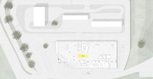 1st Floor Plan. Image Courtesy of J. Mayer H. Architects