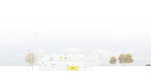 Section. Image Courtesy of J. Mayer H. Architects