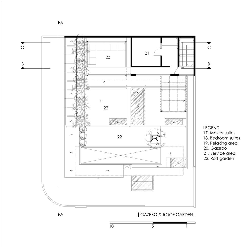 Pedongkelan YN HouseRoof Garden Plan