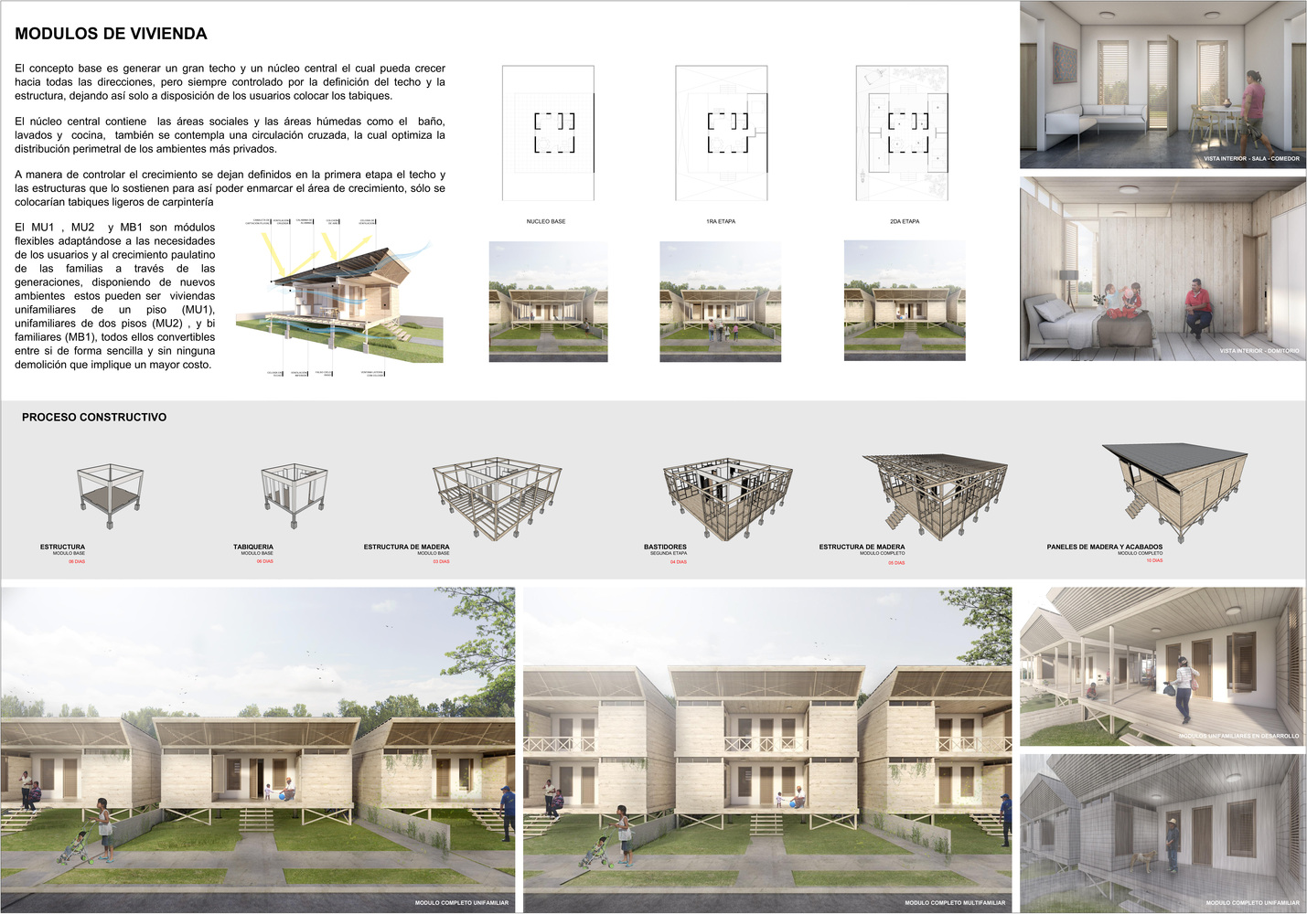Gallery of Architects Propose 120 Incremental Social Houses for ...