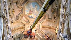 Conoce cómo se restauró la bóveda de la Catedral de Santiago