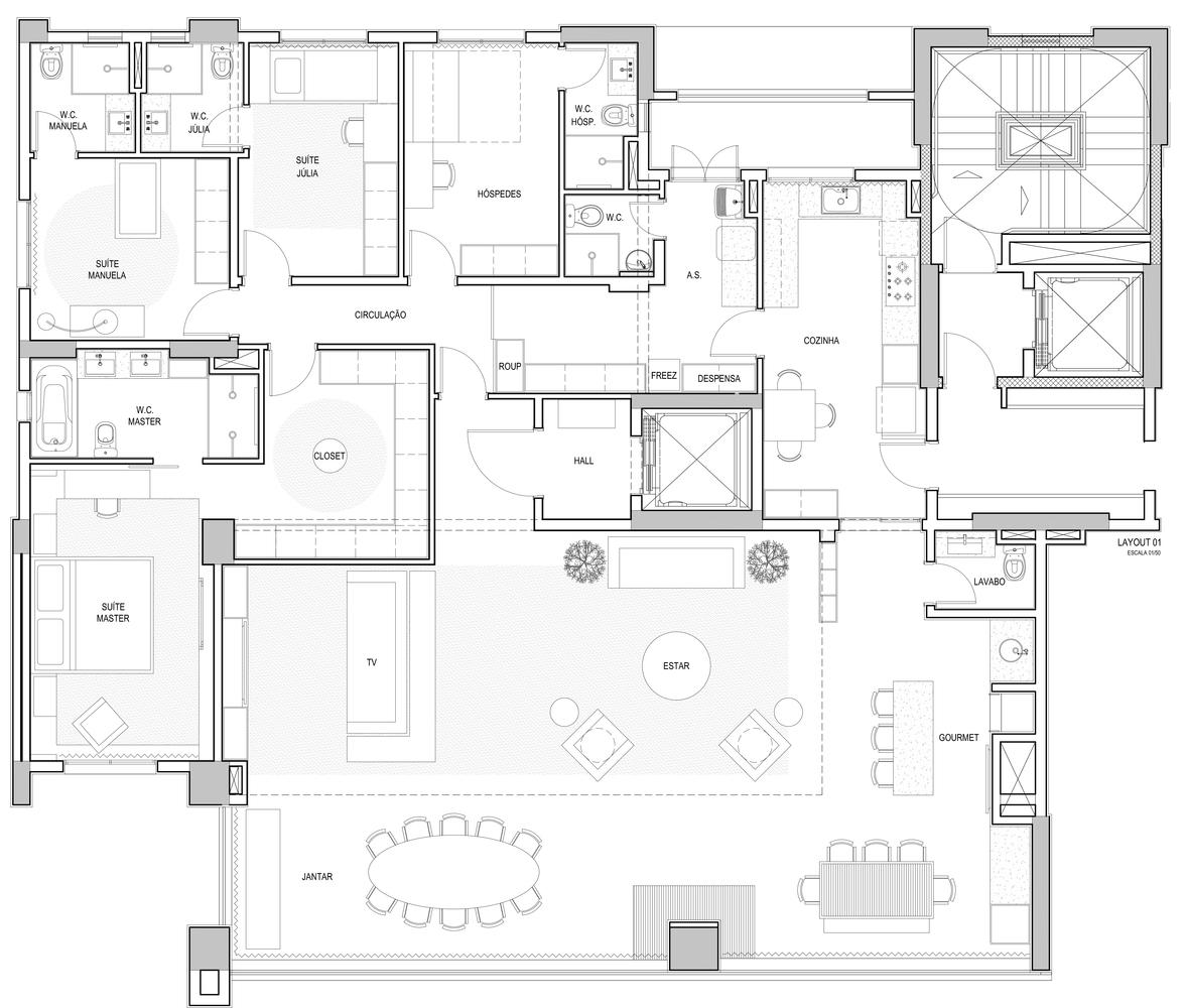 Galeria De Apartamento Wk Eduardo Medeiros Arquitetura E Design 22