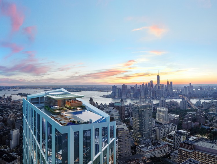 The Western Hemisphere's Highest Residential Infinity Pool to be Built in Brooklyn, © Williams New York