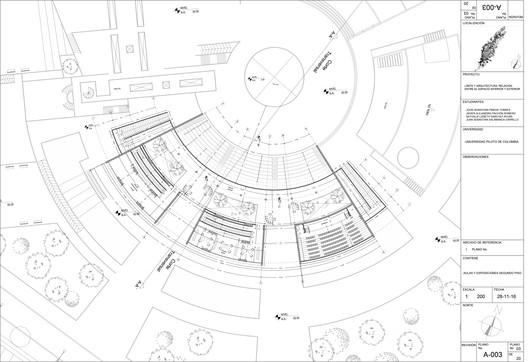 Segunda planta: aulas y sala de exposiciones
