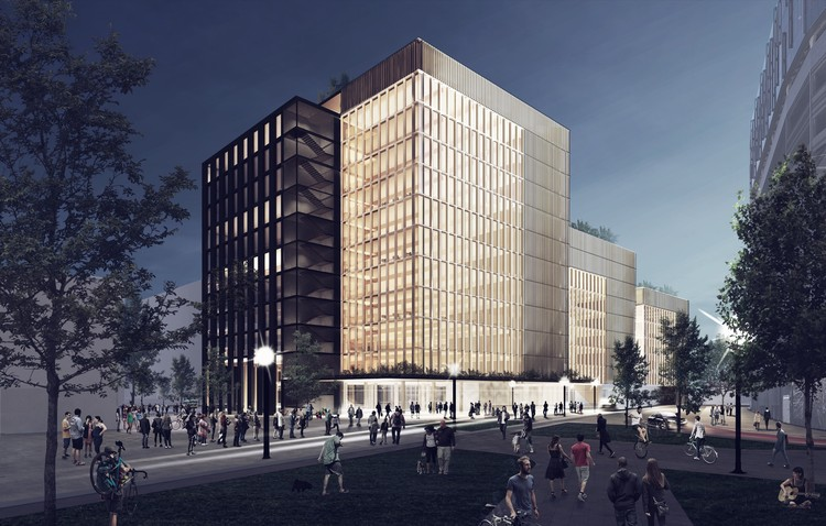 The United States' Largest Timber Office Building to Be Constructed in Newark, © Michael Green Architecture / Lotus Equity Group