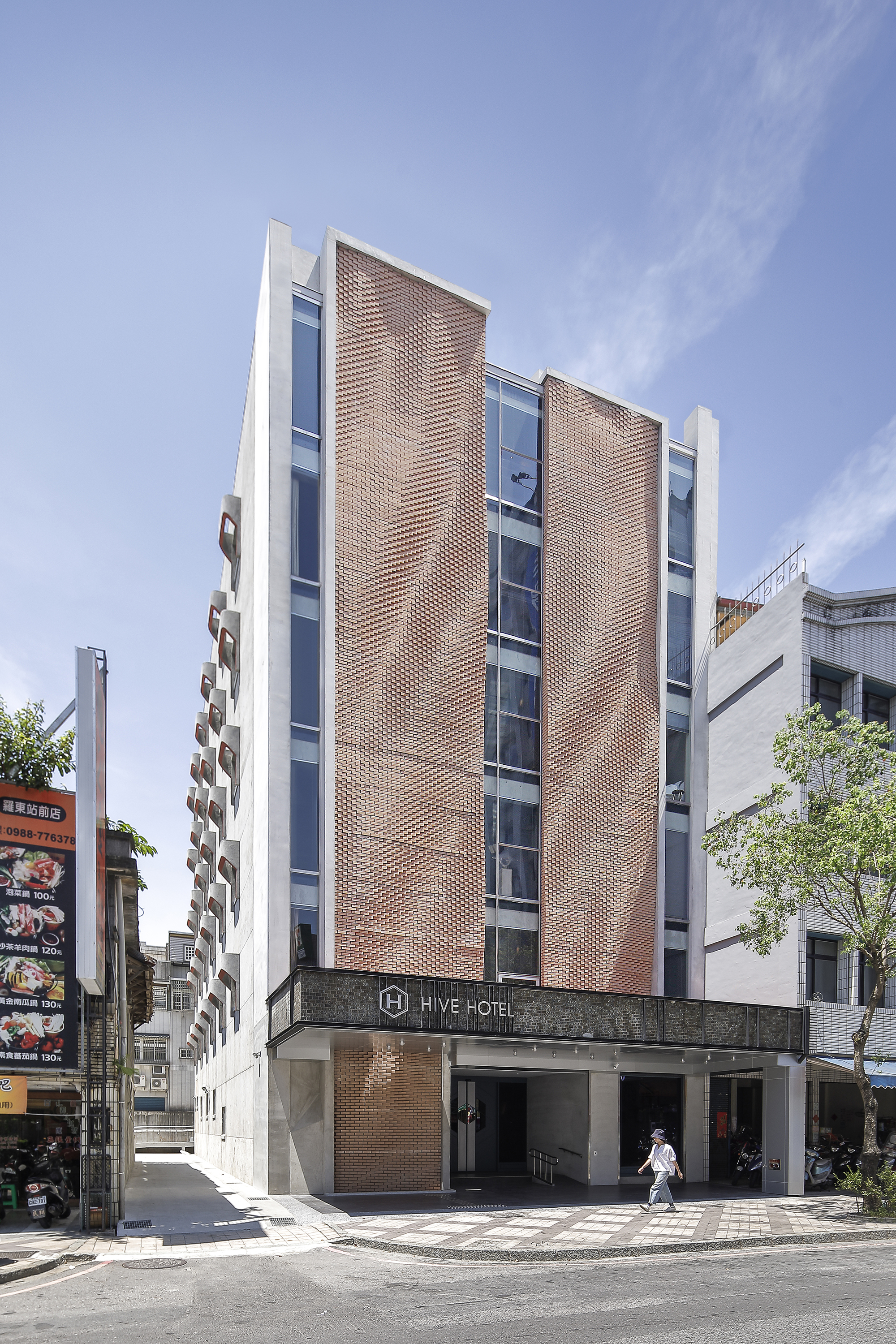 Hive Hotel Facade Remodel Preposition Architecture Archdaily