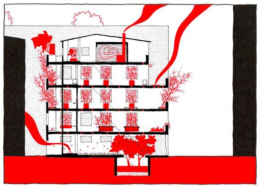 "Section - ""Ruin Academy"" by Marco Casagrande"