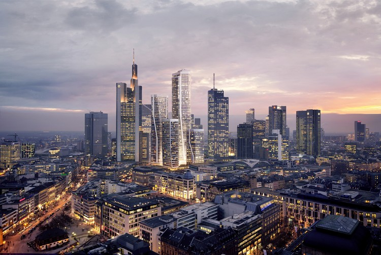 UNStudio Reveals New Renderings of Massive Frankfurt Skyscraper Development, Courtesy of UNStudio