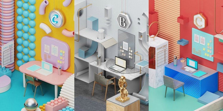 These Office Interiors are Inspired by Well-Known Fonts, Courtesy of HomeAdvisor