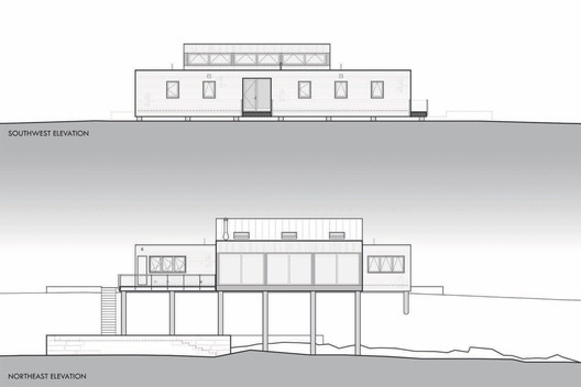 North + South Elevations