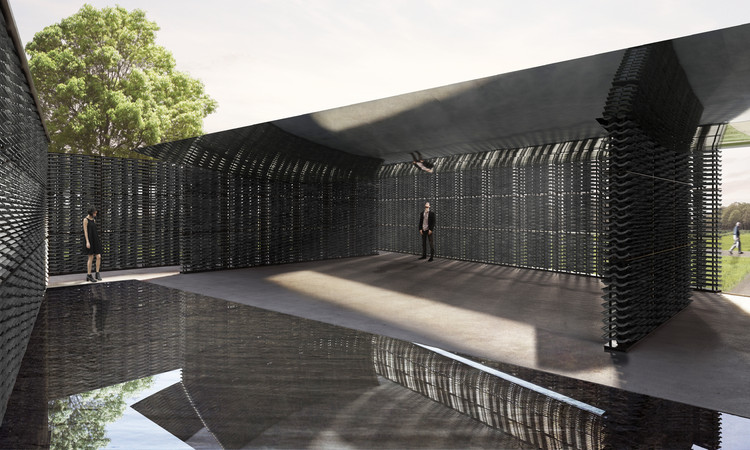 Mexican Architect Frida Escobedo Selected to Design 2018 Serpentine Pavilion, Interior render. Image © Frida Escobedo, Taller de Arquitectura, Renderings by Atmósfera