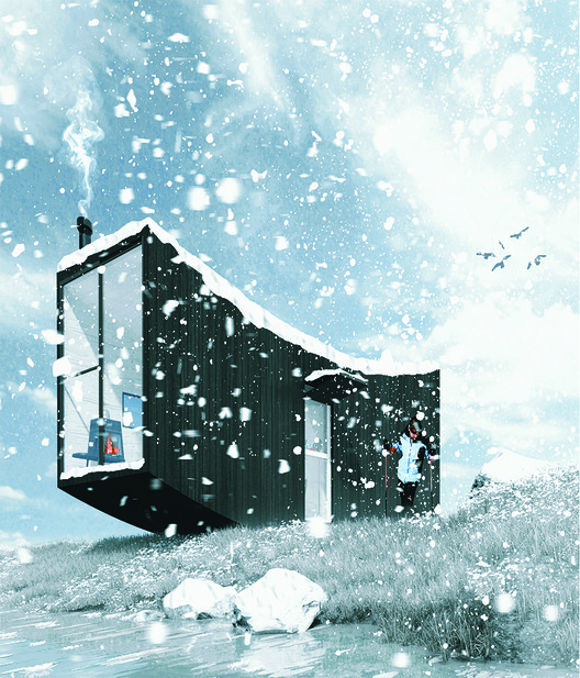 First Prize:Wave House by Abdolrahman Kadkhodasalehi. Image Courtesy of Ryterna modul