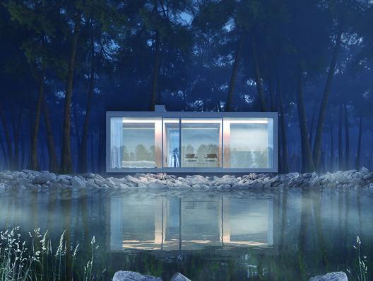 Second Prize: Torii House by Julia Kaptur and Stas Kaptur. Image Courtesy of Ryterna modul