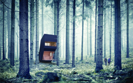 Third Prize: Trapezoidal Mod by William Samin. Image Courtesy of Ryterna modul