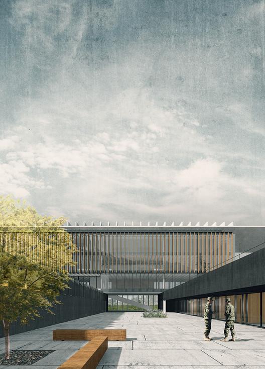 Jaime Bendersky Arquitectos + GVAA, segundo lugar en Campus Educativo de la Academia de Guerra del Ejército de Chile , Cortesía de Equipo Segundo Lugar
