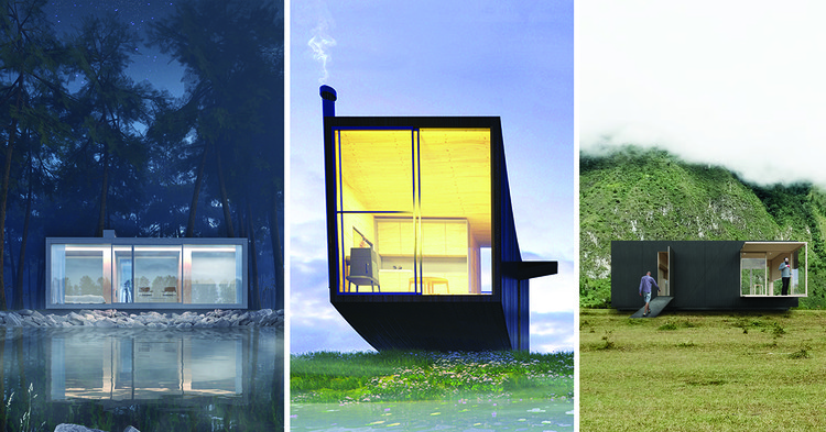 4 Tiny Houses Selected as Winners in the Ryterna modul Architectural Challenge 2018, Winning Proposals from the Architectural Challenge 2018: Tiny House. Image Courtesy of Ryterna modul