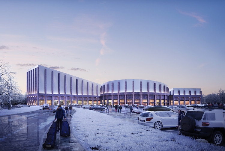 FaulknerBrowns' Plans for a New Indoor Snow Slope is Inspired by Railway Architecture, Courtesy of FaulknerBrowns Architects