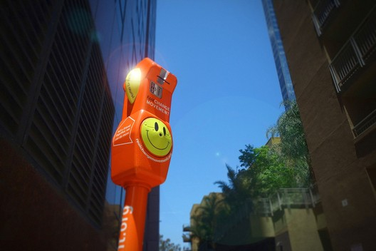 The Downtown Los Angeles meters will resemble those installed in Pasadena. Image via Curbed LA