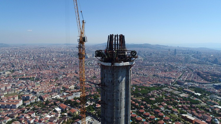Istanbul's Futuristic KCTV Telecom Tower Nears Completion , via https://www.sabah.com.tr/