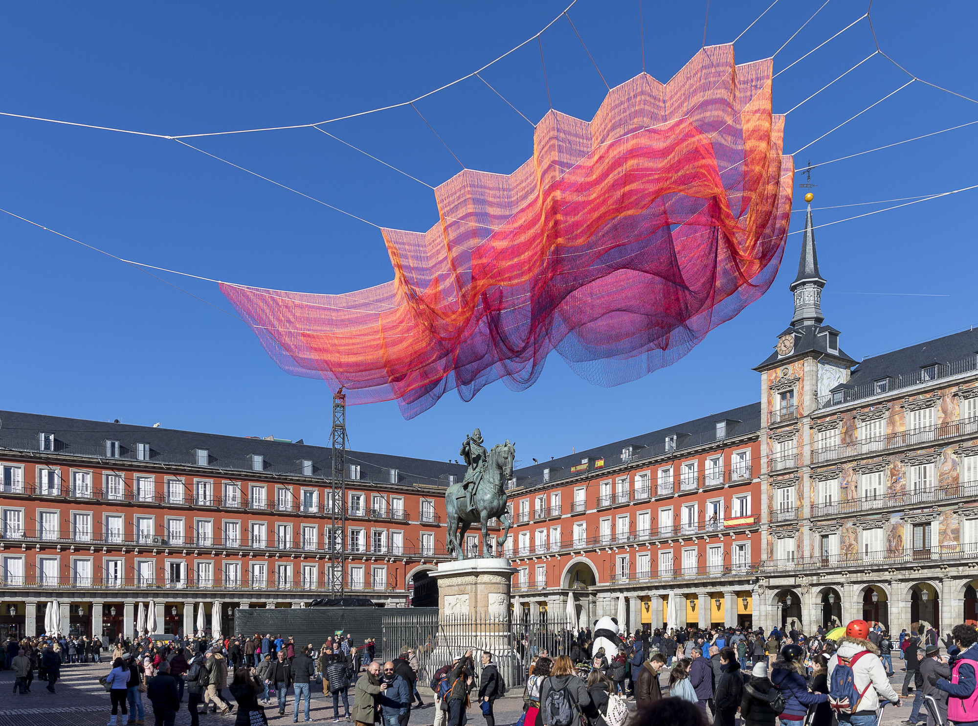Gallery Of Janet Echelman Suspends Time Inspired Net