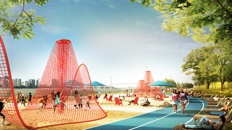 Detroit's Waterfront is Setting a Precedent for Community Led Architecture, Courtesy of James Corner Field Operations