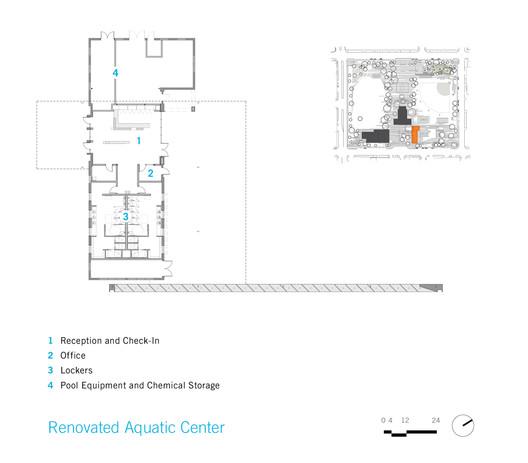 Renovated Aquatic Center Plan