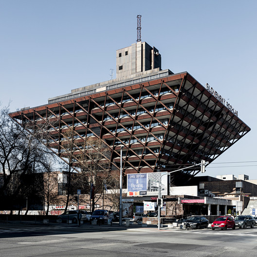Slovak Radio Building, by architects Štefan Svetko, Štefan Ďurkovič and Barnabáš Kissling, 1967-1983. Bratislava, Slovakia. Image © Stefano Perego