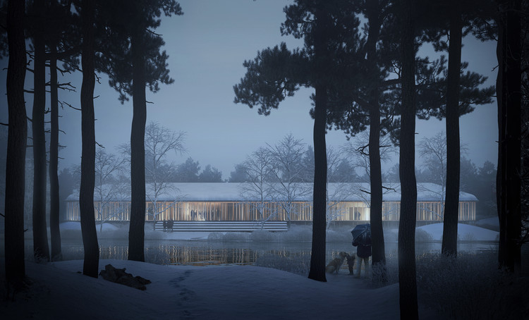 Young Architects Win First Prize for Museum of Forest Finn Culture in Norway, Exterior View. Image Courtesy of Lipinsky Lasovsky Johansson