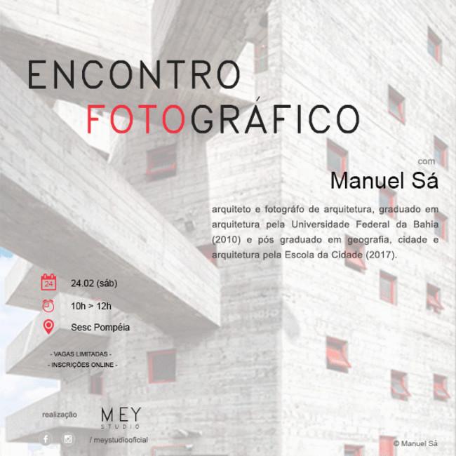 Encontro Fotográfico com Manuel Sá, Foto divulgação MEY Studio