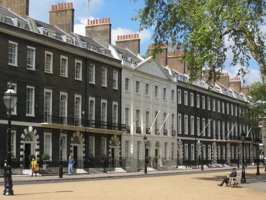 The Architectural Association on Bedford Square, London. Photograph by wikimedia user Jeremysm. Image is in the public domain.