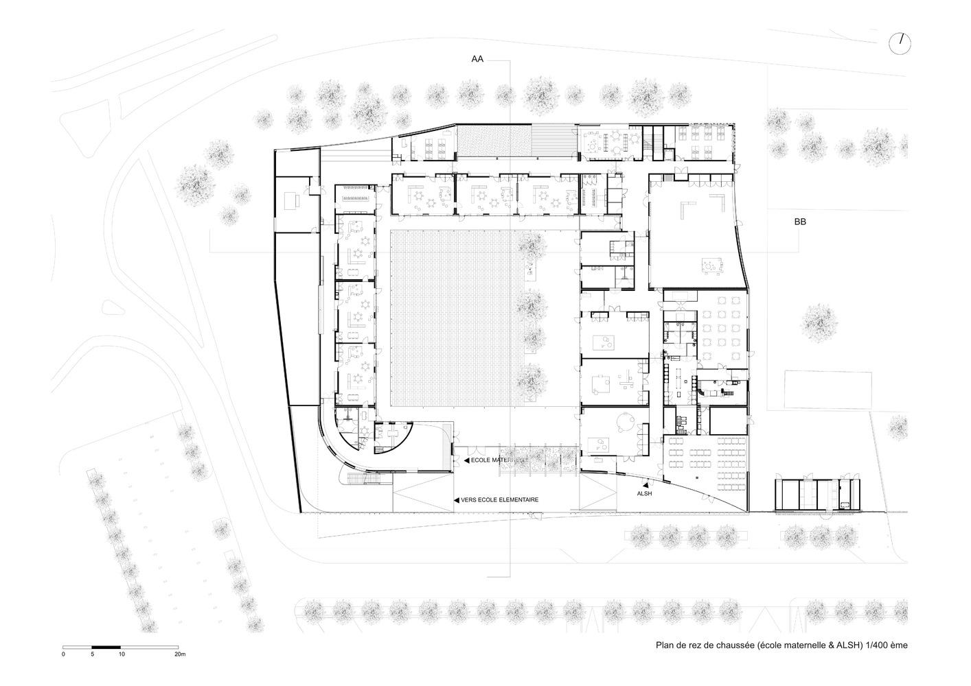 Groupe Scolaire De La Pomme De Pin,Ground Floor Plan