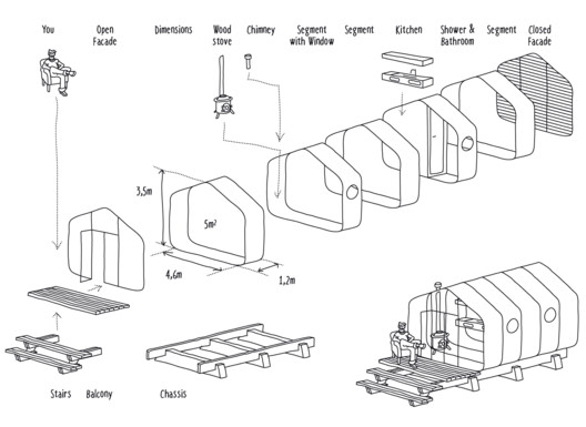 Diagram of Modular System. Image Courtesy of Fiction Factory