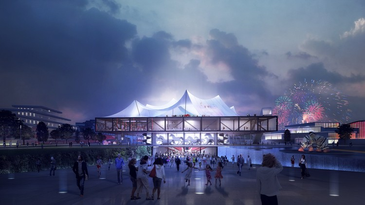 Clement Blanchet Draws Inspiration from Circus Tents for Competition-Winning Cultural Center in France, Courtesy of Clement Blanchet Architecture