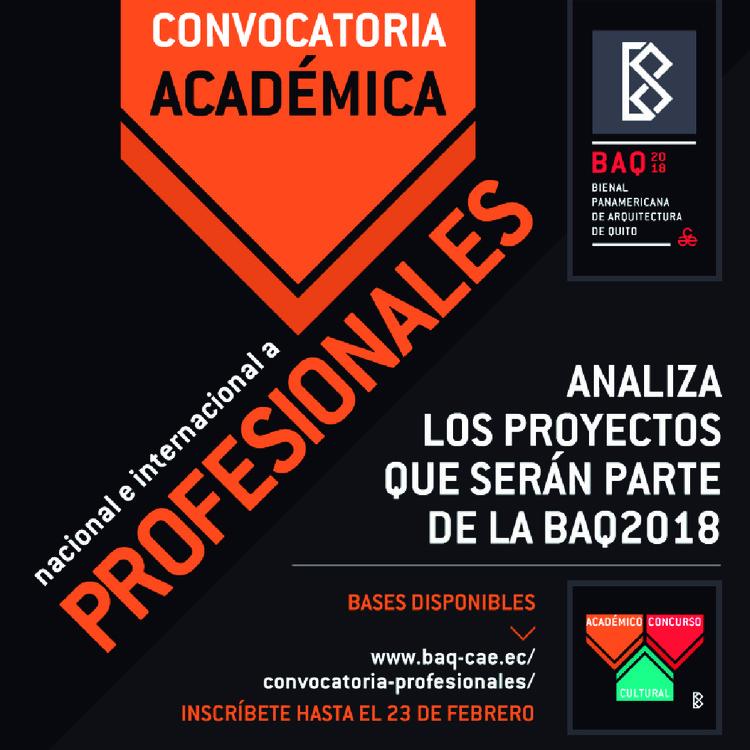 BAQ2018 abre convocatoria académica internacional a profesionales