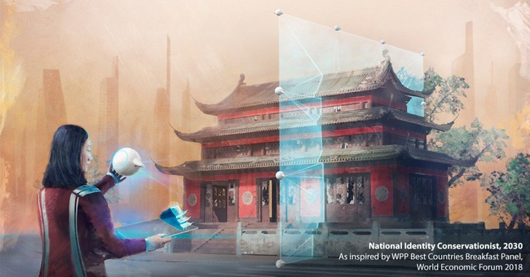 Ilustrações futuristas mostram novas opções de trabalho no campo da arquitetura e construção em 2030, via MIT Technology Review