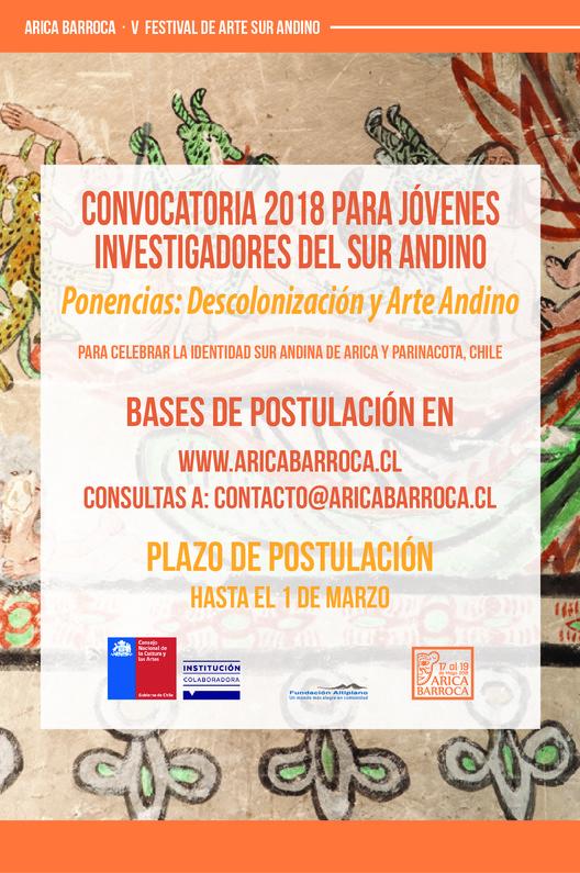 Convocatoria a ponencias sobre descolonización y arte andino, Fundación Altiplano -  Arica Barroca