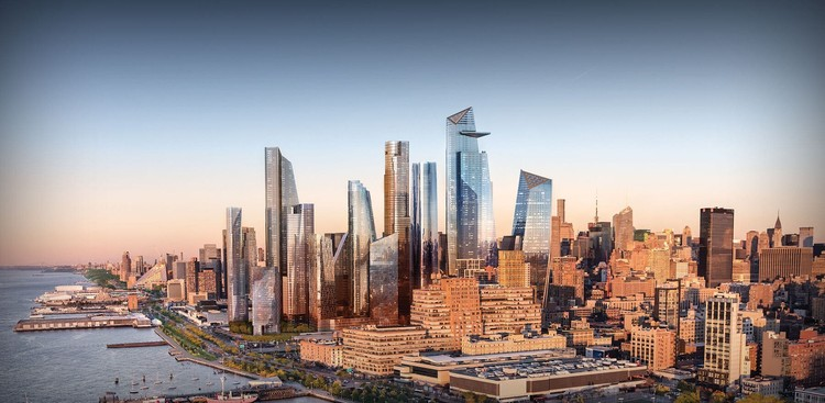 Calatrava e Gehry com propostas para dois novos arranha-céus no complexo Hudson Yards em Nova Iorque , Hudson Yards. Imagem cortesia de Related-Oxford